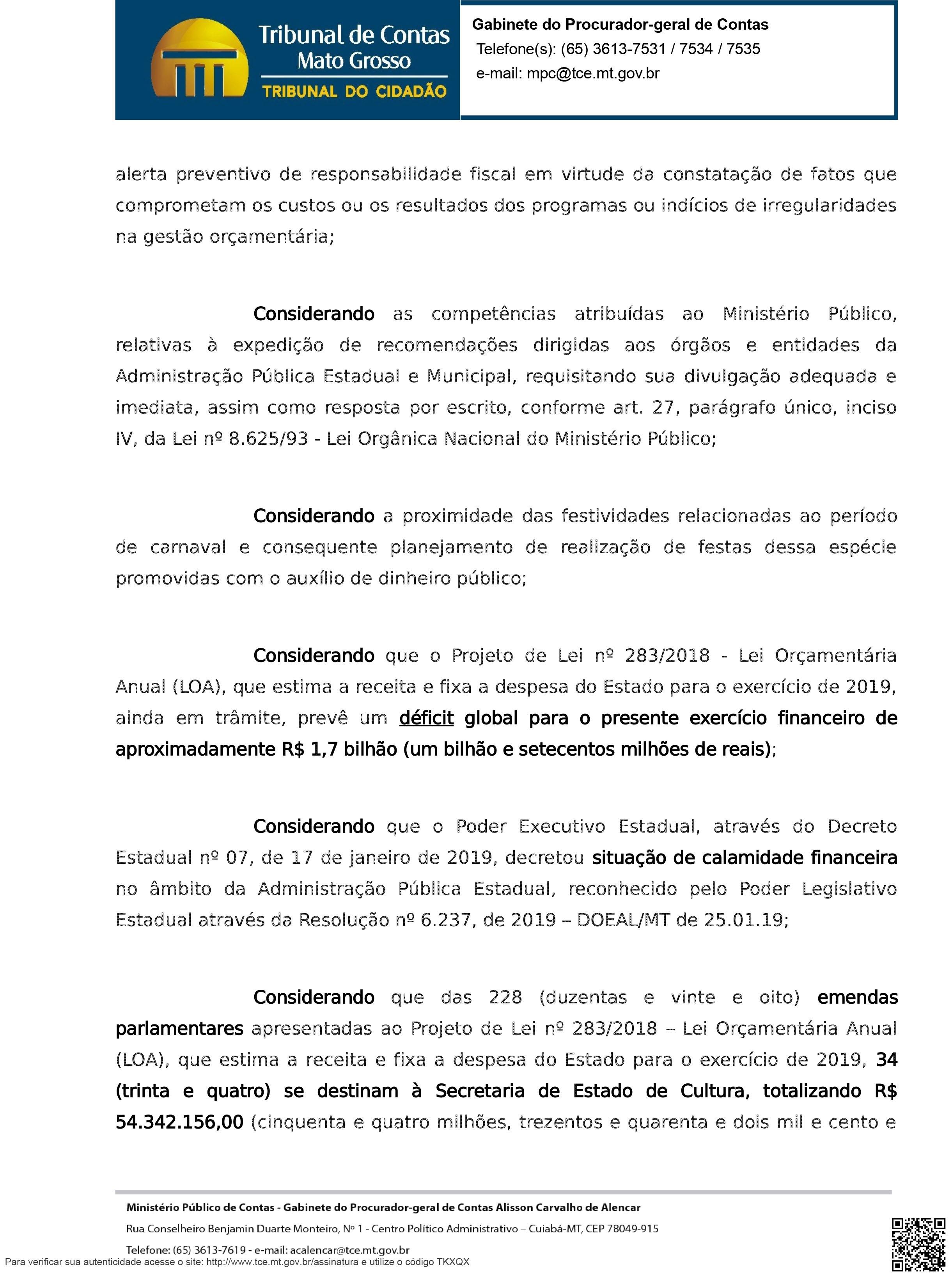 OFÍCIO CIRCULAR 01-2019 FESTIVIDADES DE CARNAVAL-2